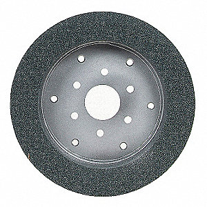 "6"" Cylinder Grinding Wheel, 1"" Thickness, 4"" Arbor Size, Silicon Carbide, PK5"