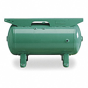 Steel Gas Engine Air Compressor Tank, Green Metallic