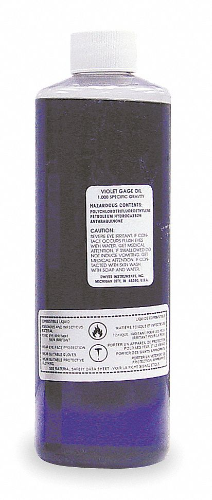 GAGE OIL,  Violet,  1.0 Specify Gravity