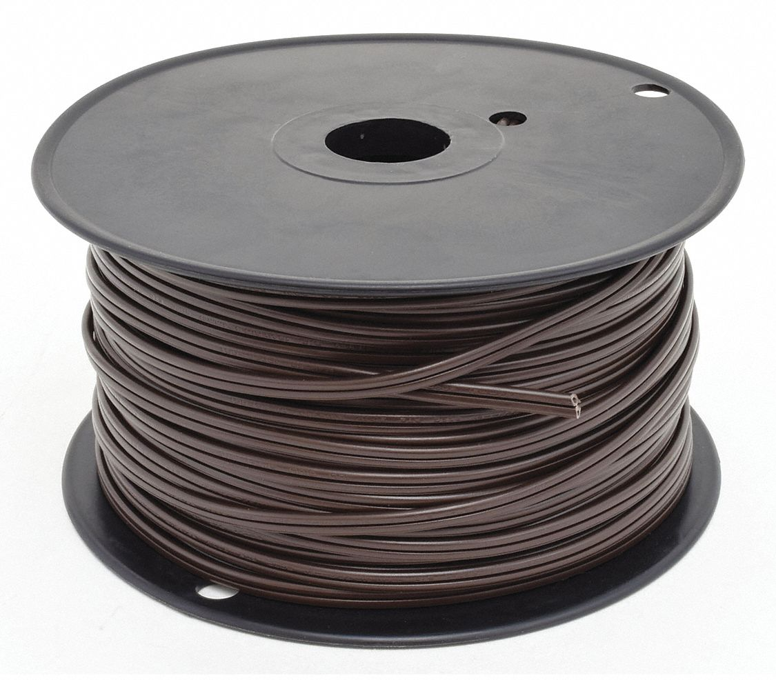 GRAINGER APPROVED 18 AWG Wire Size Lamp Cord, Brown - 1W566|E3608 ...
