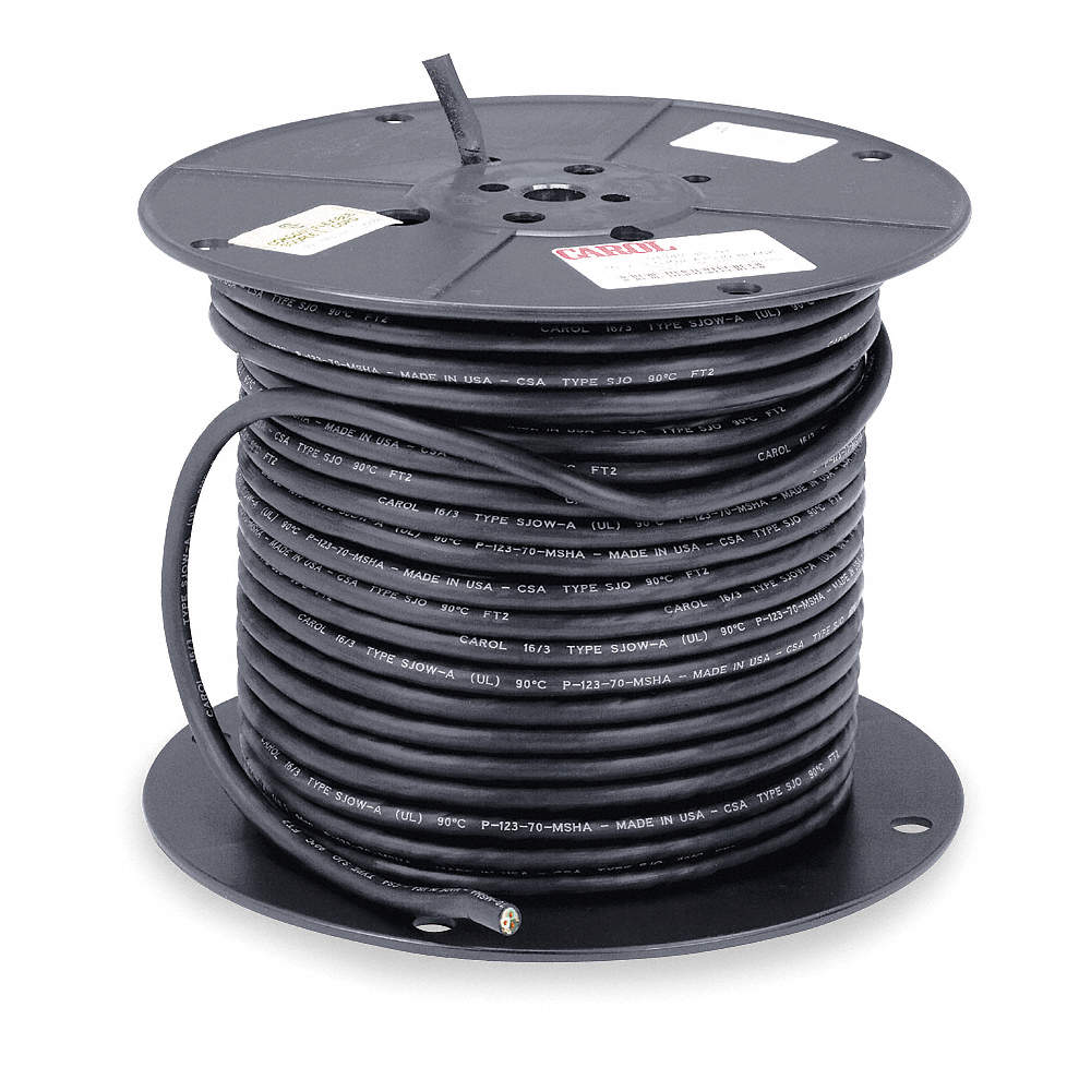 CAROL 250 ft. Portable Cord; Conductors: 3, Wire Size: 14 AWG ...