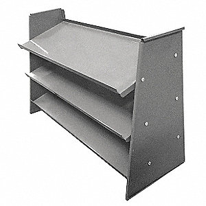 "Steel Bench Pick Rack with 0 Bins, 35-5/8""W x 12-3/4""D x 21-1/2""H, Load Capacity: 225 lb., Gray"