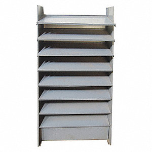 "35-5/8"" x 12-3/4"" x 61-3/8"" Single Sided Pick Rack with 600 lb. Load Capacity, Gray"