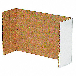 Corrugated Shelf Bin Divider, Test Rating 200 lb.