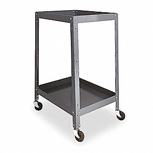 "24"" x 18"" x 34-1/2"" Gray Mobile Service Bench, 400 lb. Load Capacity"
