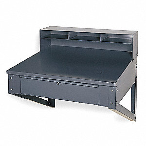 Shop Desk,34-1/2 x 37-1/2 x 30 In,Gray