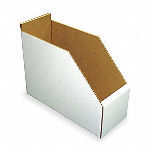 "Corrugated Shelf Bin, Test Rating 200 lb., 8-1/4"" Width, 8-1/2"" Height, 11"" Depth"