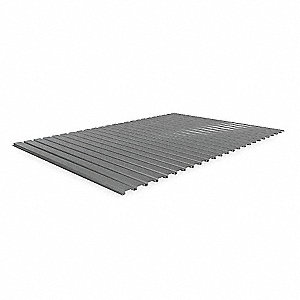 "Ribbed Steel Decking used with Bulk Storage Rack, 48""D x 72""W, Gray"