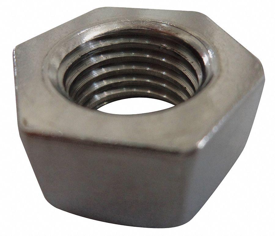 3//4-10 Plain Finish 316 Stainless Steel Jam Hex Nuts 10 pk.