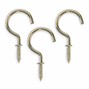 Cup,Type Hook,Length 1 1/4 In,PK20