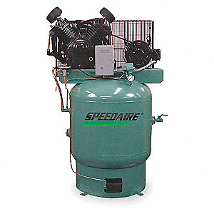 3 Phase Vertical Tank Mounted 10HP Electric Air Compressor, 80 gal., 175 psi