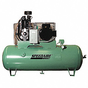 3 Phase - Electrical Horizontal Tank Mounted 7.50HP - Air Compressor Stationary Air Compressor, 80 g
