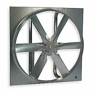 "48"" Dia., Exhaust Fan with Drive Package, 208-230/460V, Open Dripproof"