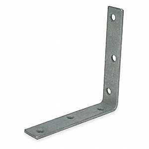 "5 in"" x 1 in"" Steel Corner Brace with Galvanized Finish"