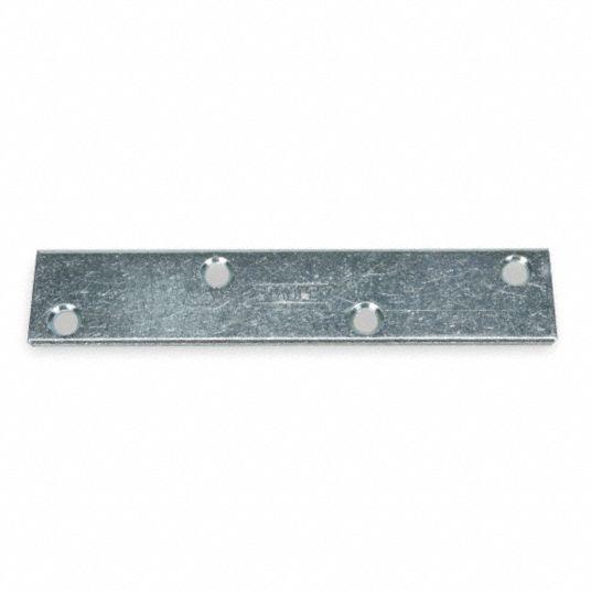 "6 in"" x 1 1/8 in"" Steel Mending Plate with Zinc Finish"