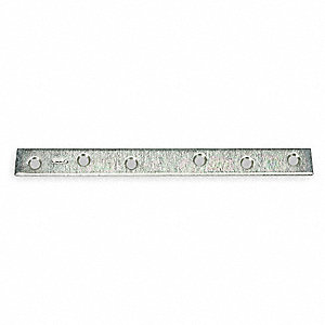 "10"" x 1"" Steel Mending Plate with Zinc Finish"