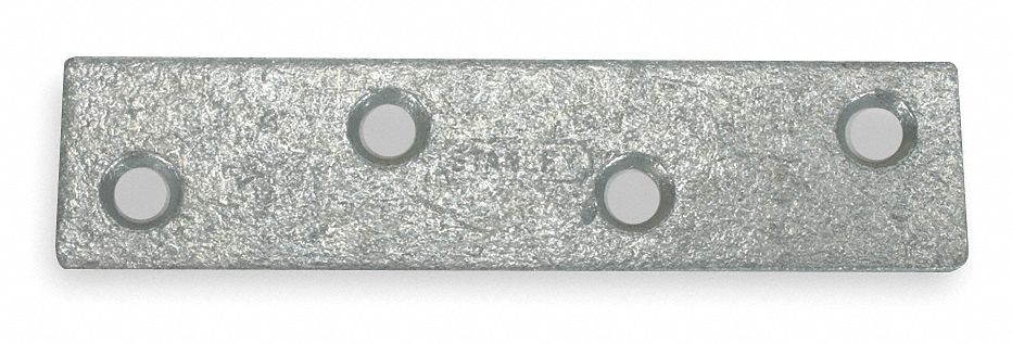 "4 in"" x 7/8 in"" Steel Mending Plate with Galvanized Finish"