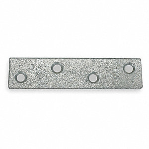 "4"" x 7/8"" Steel Mending Plate with Galvanized Finish"