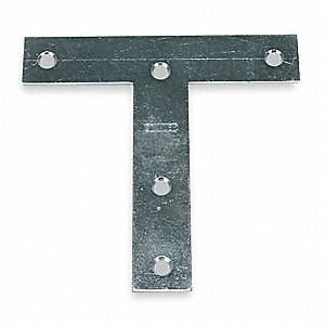"5"" x 5"" Steel T-Plate with Zinc Finish"