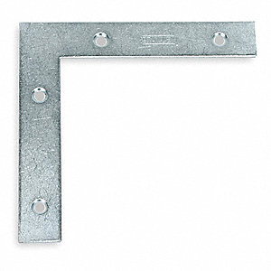 "5"" x 7/8"" Steel Flat Corner Brace with Zinc Finish"