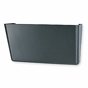 "13"" x 4-1/8"" x 7"" Plastic Wall File, Black"