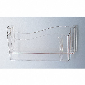 "17"" x 5-1/2"" x 8"" Unbreakable Polycarbonate Unbreakable Wall File, Clear"