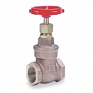 "Class 150 FNPT Gate Valve, Inlet to Outlet Length: 2-1/8"", Pipe Size: 3/4"", Max. Fluid Temp.: 365°F"