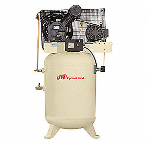 3 Phase - Electrical Vertical Tank Mounted 10.0HP - Air Compressor Stationary Air Compressor, 120 ga