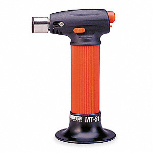 Microtorch&#x3b; Self Igniting with Safety Lock, Built In Refillable Plastic Fuel Tank, Two Hours Non Sto