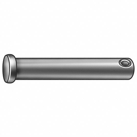 Steel Clevis Pin, 1 3/4 in L, 1/2 in Pin Dia.