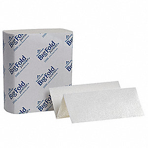 "Pacific Blue Ultra™ Big Fold® Junior 1-Ply Multifold Paper Towel Sheets, 9-1/4"" x 10-4/5"", White, 10"