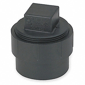 FITTING CLEANOUT ADAPTER,W/PLUG,4 I