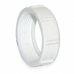 "PVC Slip Joint Nut, NPSM, 1-1/2"" Pipe Size - Pipe Fitting"