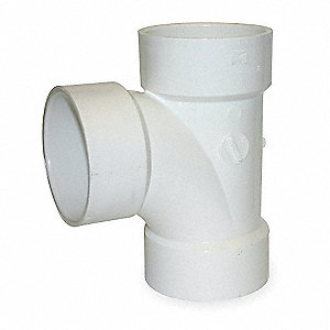 Sanitary Tee,PVC,4 In,140 Deg F