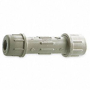 "CPVC Coupling, 1/2"" Pipe Size (Fittings), Compression Fitting Connection Type"