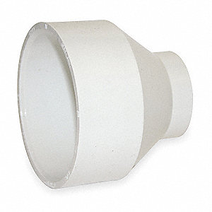 "PVC Reducer, Hub, 4"" x 2"" Pipe Size - Pipe Fitting"
