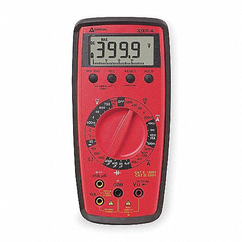 Multímetro Digital, 3999 Conteos, Precisión ±0.70%, TRMS, Amperes Máx. CA 10, Voltios Máx. CA 1000
