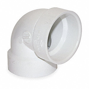 "PVC Elbow, 90°, Vent, Hub, 3"" Pipe Size - Pipe Fitting"