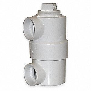 DRUM TRAP,PVC,1 1/2 X 3 X 6 IN,1500