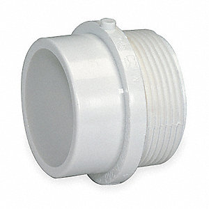 "PVC Male Adapter, MNPT x Spigot, 1-1/2"" Pipe Size (Fittings)"