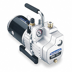 Refrig Evacuation Pump,8.0 cfm,8 ft.