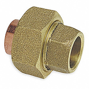 "Cast Copper Union, C x C Connection Type, 1/4"" Tube Size"