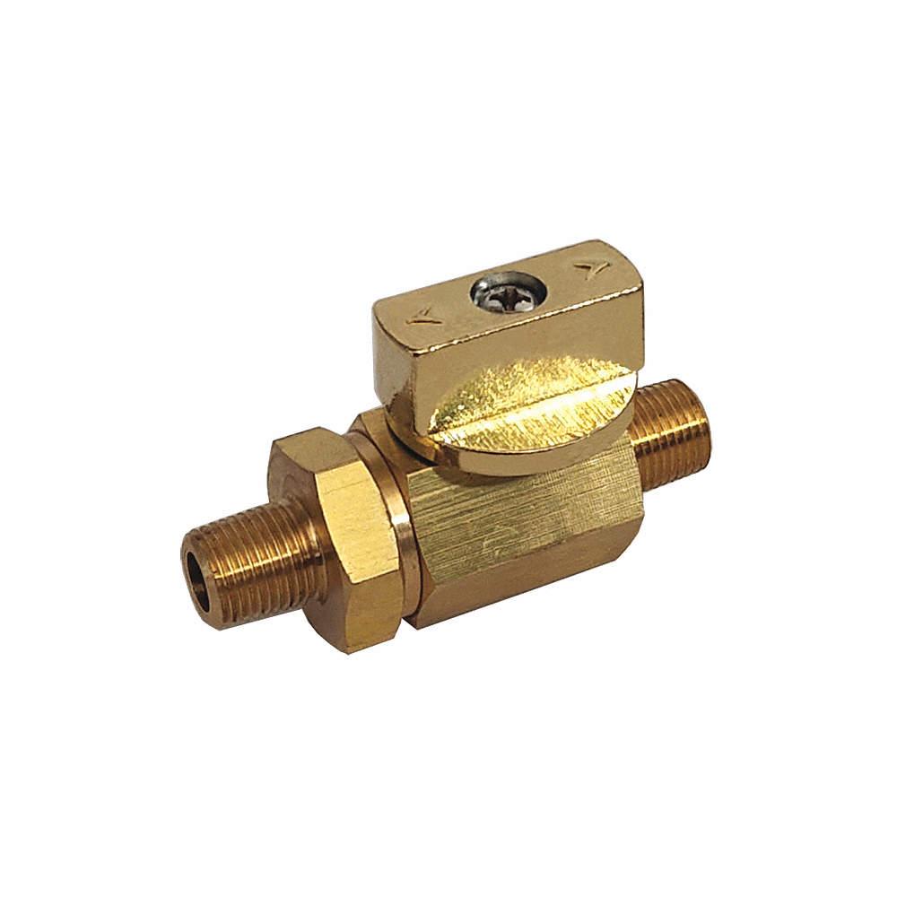 1//4 Pipe Size Brass FNPT x MNPT Ball Valve Lever