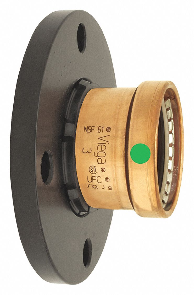 Copper XL Adapter Flange, Press x Flange Connection Type, 3 in Tube Size