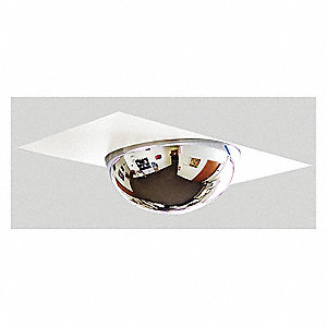 "22""-dia. Acrylic 360° Full Dome Mirror w/panel with 22 ft. Approx. Viewing Distance"
