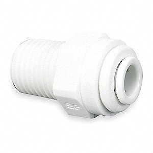 "Acetal Copolymer Male Adapter, 3/8"" Tube Size"