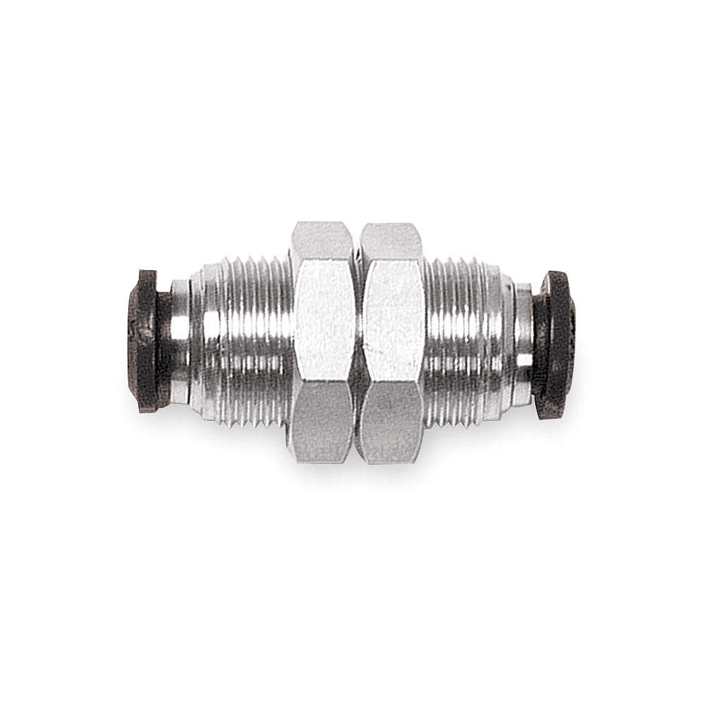 Nickel Plated Brass AIGNEP USA 50050N-10 Push-In Fittings Bulkhead Union 10 mm Tube