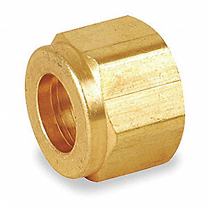 "Nut, 1/8"" Tube Size, Metal, 3/8"" Hex Size"