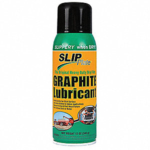 Graphite Dry Film Lubricant, 12 oz. Container Size, 12 oz. Net Weight