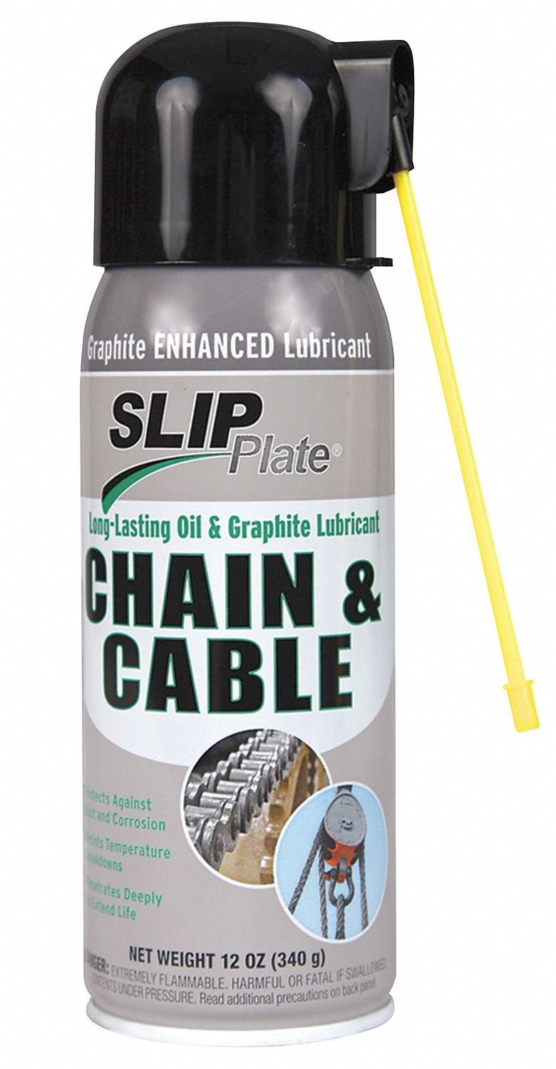 SLIP PLATE Chain and Cable Lubricant, 12 oz. Aerosol Can, Mineral ...